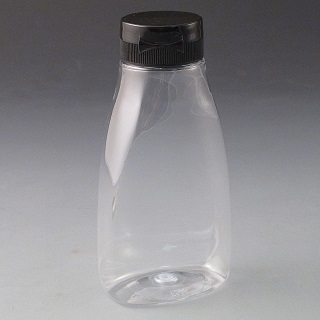 250ml Clear Squeeze Bottle & Cap (Box of 294)