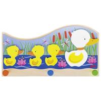 Mummy duck with ducklings children's coat hook