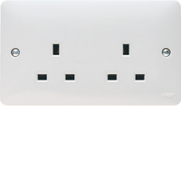 13A 2G Unswitched Socket Dual Earth | LV0301.0573