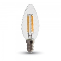 4w LED Twisted Candle Filament Bulb Dimmable E14 2700K
