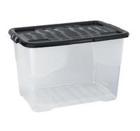 42L Curve Box Clear W/Single Piece Lid