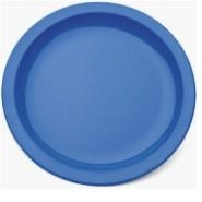 "Large Narrow Rimmed Plate Med Blue Polycarbonate 9"" 23cm"