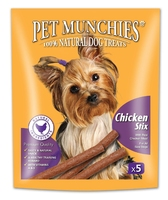 Pet Munchies Dog Stix - Chicken 50g x 5 x 10