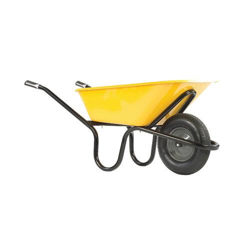 Yellow Heavy Wheelbarrow
