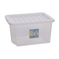 Uni 30L Clear Box & White Lid