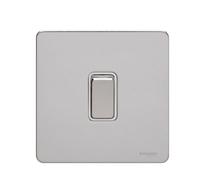 Schneider Ultimate Screwless 1g 2way Switch Polished Chrome white|LV0701.0896