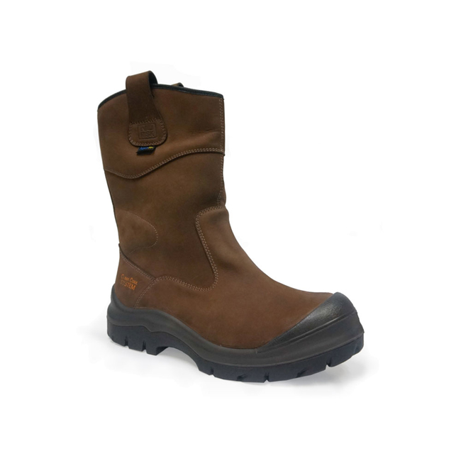 5ce33027467 NO RISK' HAWICK Full Grain Leather 100% Waterproof Rigger Boot Composite  toe & Kevlar Midsole