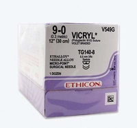 SUTURES COATED VICRYL 4/0 45CM W9386 PK 12