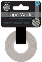 Tape Glitter Silver Zebra (Priced in singles, order in multiples of 4)