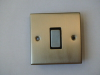 1 Gang Bell Switch INGOT Satin Chrome
