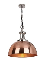 Sylvie 1 Light Pendant, Copper & Polished Nickel | LV1802.0103