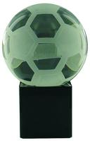 9cm Crystal Award with Soccer Ball | TC12