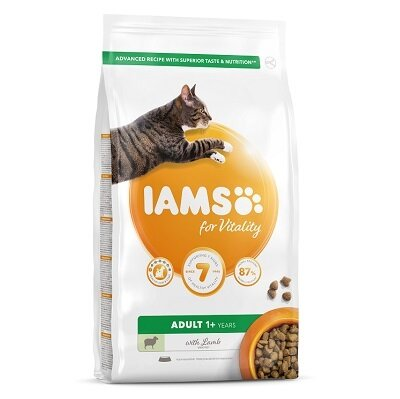 Iams Cat Adult Vitality Lamb 10kg