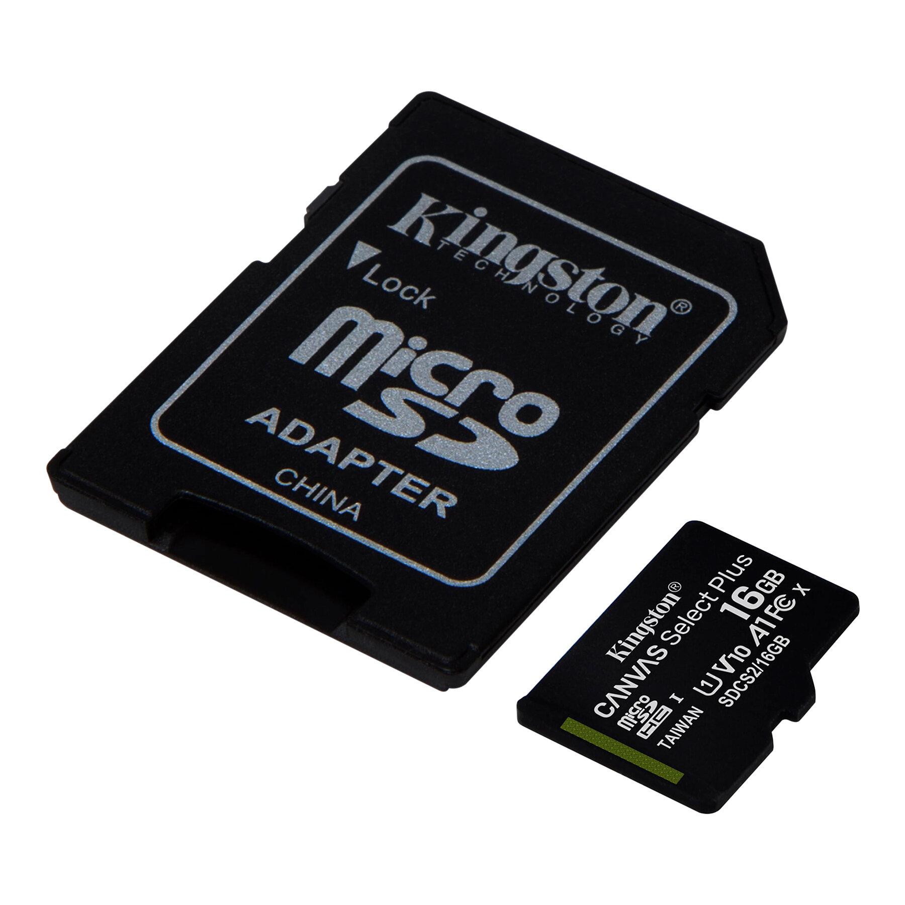 SDCS2/16GB | Kingston Technology 16GB UHS-I microSDHC Memory Card