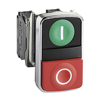 Telemecanique 24V Illuminated Double Head Pushbutton Green / Red
