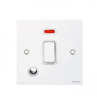 Flat Plate WH 20A Switch F/OUT+N WHITE | LV0701.0369