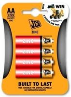 JCB Zinc Batteries Size AA 4 Pack