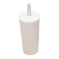 Lucy Fully Enclosed Toilet Brush & Holder - L1720202 (WT724)