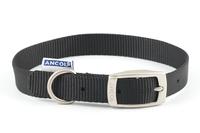 """Ancol Nylon Buckle Collar Black 18"""" x 1"""