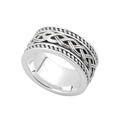 mens sterling silver celtic knot ring s21048 from Solvar
