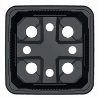 Teku VQB Square Pot Thermoformed 9cm x 9cm x 9.5cm -  Black