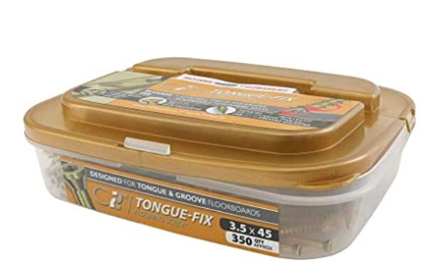 Timco C2 Tongue Fix Flooring Screw 3.5x45mm Tub350
