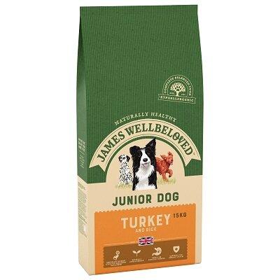 James Wellbeloved Turkey & Rice Junior Dog Food 15kg