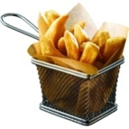Serving Basket S/S 10x8x7.5cm (Excluding Handle)