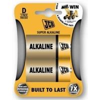 JCB Super Alkaline Batteries Size D Battery 2 Pack