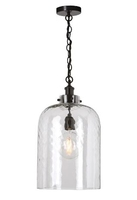 Tigoda 1 Light Pendant, Bronze & Dimpled Glass | LV1802.0108