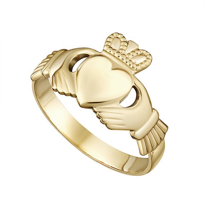 9K GENTS CLADDAGH RING