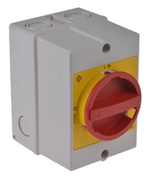 Enclosed IP65 Isolator - 63A 3P+1N/O KG