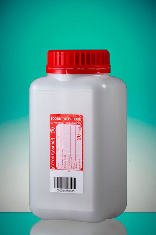 Flask With Thiosulfate For Water Sampling. Sp
