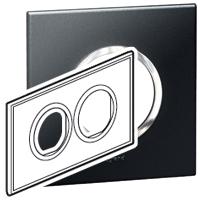 Arteor (British Standard) Plate 2x2m 2 Gang Round Graphite| LV0501.0142