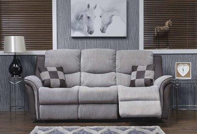 Roberto Grey Fabric Sofa 3