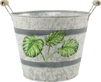 Tin Pail Palm Leaf 18cm