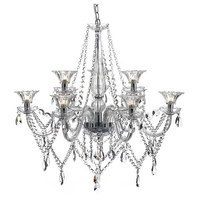 Emma 9 Light Chandelier, Polished Chrome / Clear | LV1802.0064