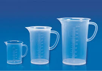 Jug Clear Rigid Pp  500ml, Moulded Graduation
