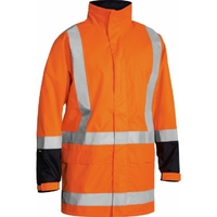 Bisley Hi Vis TTMC-W Mesh Lined Rain Jacket 20,000mm