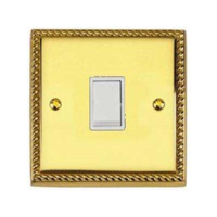 BRASS HERITAGE WAY SWITCH1 GANG 2