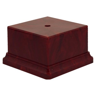70 x 70 x 55mm Heavy Plastic Base (Red)