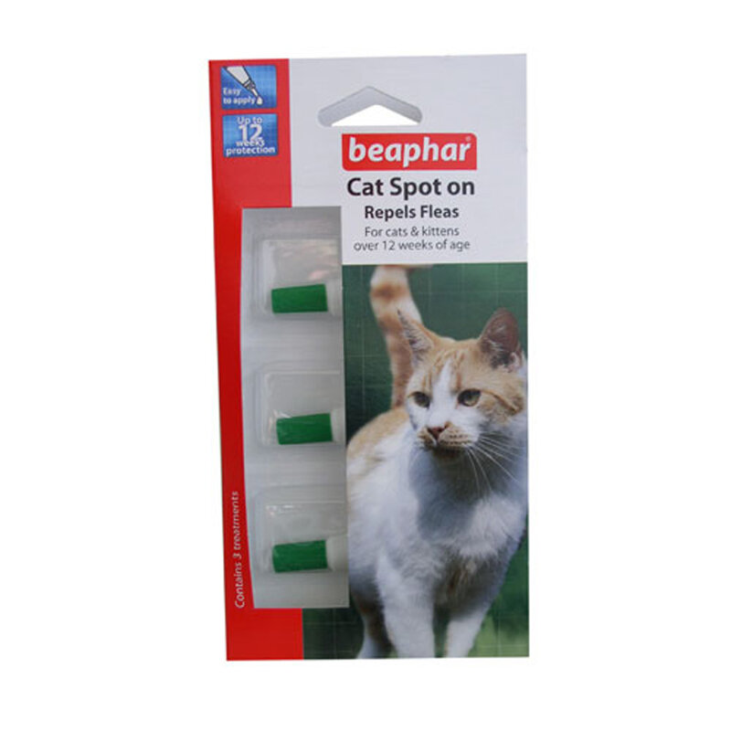 Beaphar Cat Spot On 12 Week Flea Repel x 6