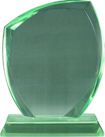 17cm Jade Glass Plaque (Satin Box)