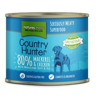 Natures Menu Country Hunter Cans - Mackerel Chicken & Redcurrant 600g x 6