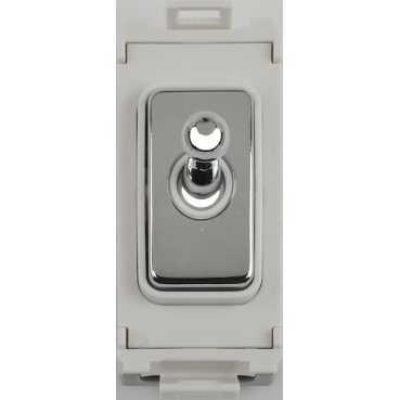 Schneider Ultimate Screwless Grid Mirror Steel Intermediate Toggle White|LV0701.1076
