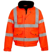Supertouch Storm-Flex Pu Bomber Jacket, Orange