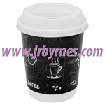 CASE Cup 12oz Single Wall Black WHat x1000