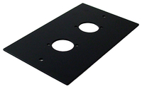 Kelsey Black Pre Punched Dual hole Single Gang Plates