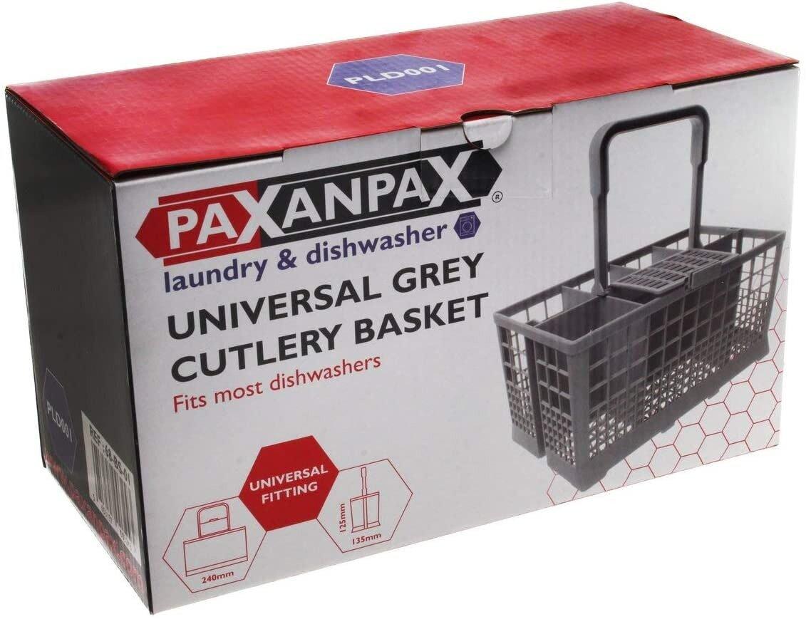 Universal Bosch, Hotpoint, Neff, Siemens, Smeg Universal Grey Cutlery Basket (240mm x 135mm x 125mm)