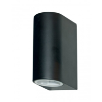 ELIPTICAL OUTDOOR UP AND DOWN WALL LIGHT IP44 GU10